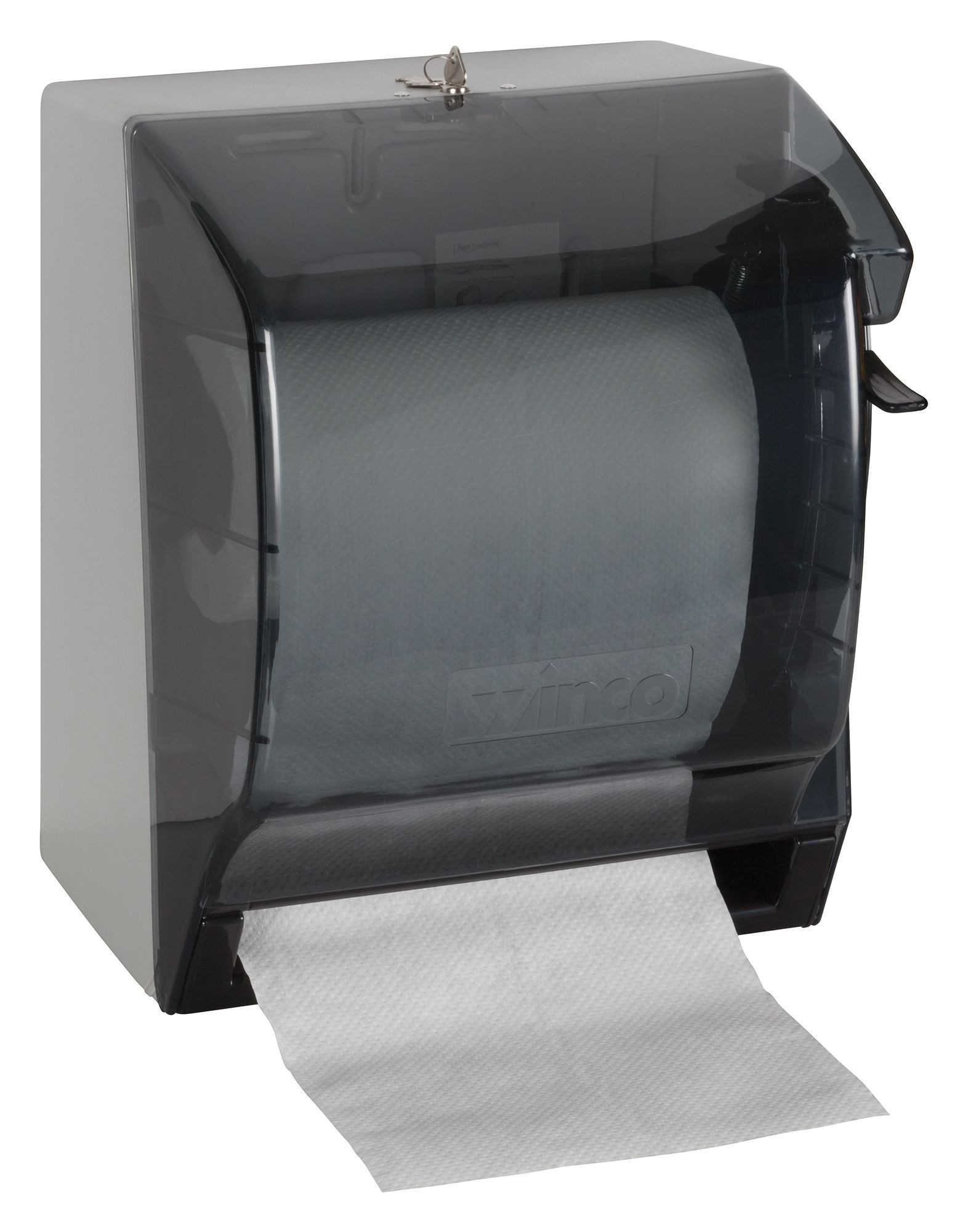 Winco TD-500 Roll Paper Towel Dispenser with Lever-Action