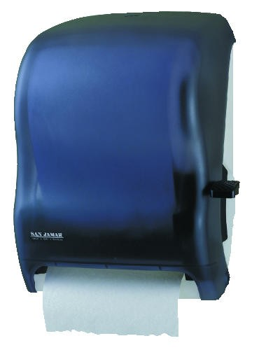San Jamar Lever Roll Hand Towel Dispenser, Black Pearl
