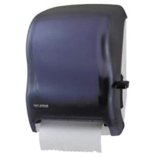Lever Roll Towel Dispenser, Plastic White, No Transfer Mechanism