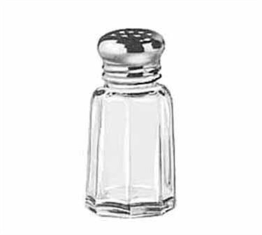 Libbey Glass 70017 1 oz. Glass Salt/Pepper Shaker with Stainless Steel Top
