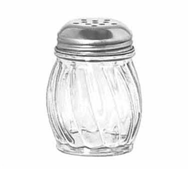 Libbey Glass 70132 6 oz. Glass Cheese Shaker with Stainless Steel Top