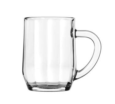 Libbey Glass 5725 All-Purpose 10 oz. Glass Optic Mug