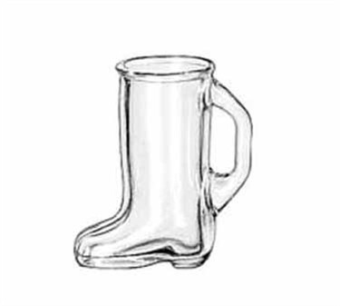 Libbey Glass 97038 Bolla Grande Collection 1-1/2 oz. Boot-Shaped Shot Glass
