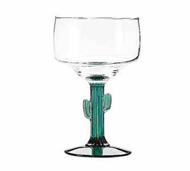 Libbey Glass 3619JS Cactus 12 oz. Margarita Glass with Juniper Stem