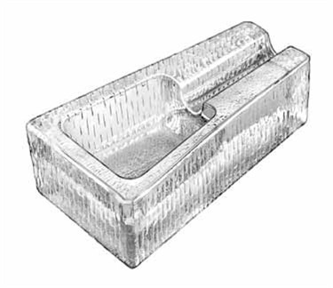 "Libbey Glass 1783682 Glass Cigar Ash Tray 7-1/4"""