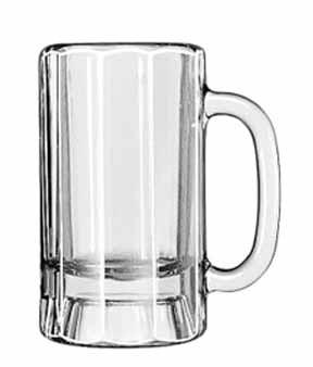Libbey Glass 5018 Classic 14 oz. Paneled Mug