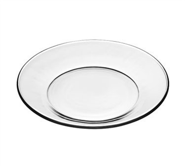 Libbey Crisa Moderno Tempered-Glass Salad/Dessert Plate - 7-1/2