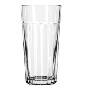 Libbey Glass 15645 DuraTuff 24 oz. Paneled Glass Tumbler