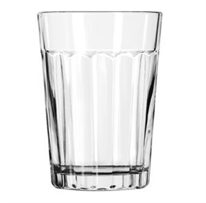 Libbey Glass 15640 DuraTuff 9 oz. Paneled Glass Tumbler