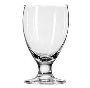 Libbey  10-1/2 Oz.  Goblet Glass With Safedge Rim / Foot