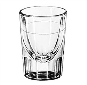 Libbey Glass 5127/S0711 Fluted 1-1/2 oz. Whiskey Shot Glass Lined at 7/8 oz.