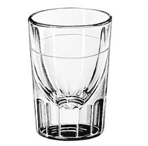 Libbey Glass 5135/S0617 Fluted 1-1/4 oz. Shot Glass Lined at 1/2 oz.