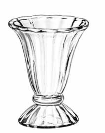 Libbey Glass 5115 Fountainware 6-1/2 oz. Glass Tulip Sundae Dish