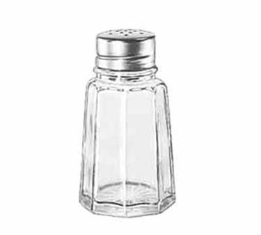 Libbey Glass 75351 Gibraltar 2-1/2 oz. Glass Salt/Pepper Shaker with Stainless-Steel-Top