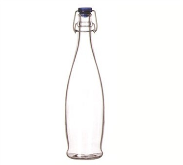 Libbey Glass 13150020 Glass Water Bottle 33-7/8 oz. with Wire-Bail Lid