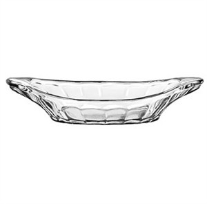 "Libbey Glass 5317 Glass Banana Split /Relish Dish 1-7/8""H"