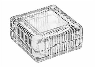 Libbey Glass Square Jewelry Box - 3-7/8