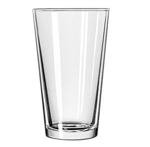 Libbey Glass 1637HT Heat-Treated 20 oz. Mixing Glass