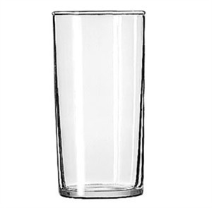 Libbey Glass 44 Heat-Treated 8 oz. Straight-Sided Hi-Ball Glass