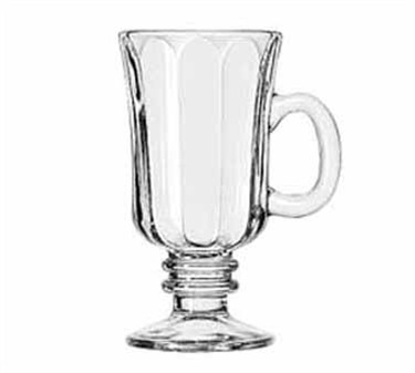 Libbey Glass 5294 Optic Design 8-1/4 oz. Irish Glass Coffee Mug