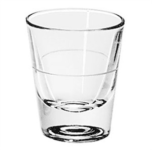 Libbey Glass 5120/A0007 1-1/2 oz. Whiskey Shot Glass Lined at 1 oz.