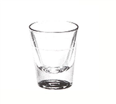 Libbey Glass 5121/S0711 1-1/4 oz. Whiskey Shot Glass Lined at 7/8 oz.