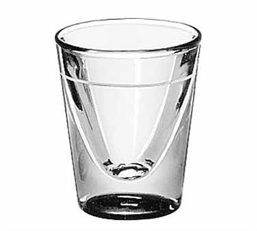 Libbey Glass 5122/S0709 1 oz. Whiskey Shot Glass Lined at 5/8 oz.