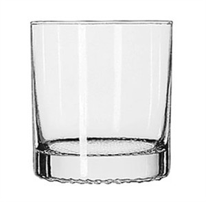Libbey Glass 9171CD Rocks/Old Fashioned 11 oz. Glass with Dimpled Base
