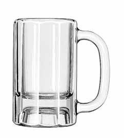 Libbey Glass 5019 Solid-Looking 10 oz. Paneled Mug