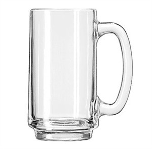 Libbey Solidly Built 12-1/2 Oz. Handled Glass Mug