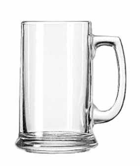 Libbey Glass 5011 15 oz. Glass Mug with Handle