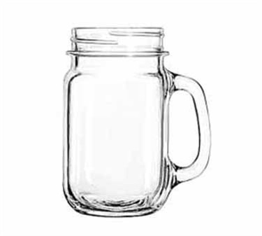 Libbey Glass 97084 Unique County Fair 16 oz. Plain-Paneled Drinking Jar