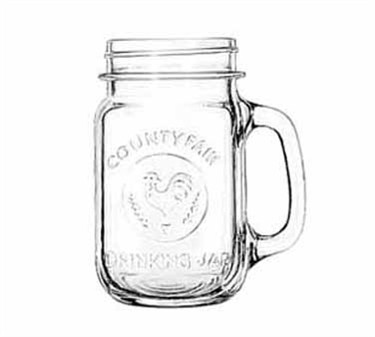 Libbey Glass 97085 Unique County Fair 16 oz. Drinking Jar