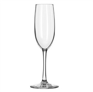 Libbey Vina 8 Oz. Flute Glass With Safedge Rim and Foot