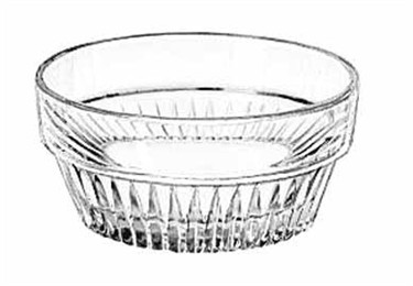 Libbey Glass 15446 Winchester DuraTuff 3 oz. Glass Ramekin