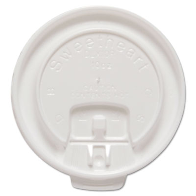 Dart Lift Back and Lock Tab Cup Lids for 10 oz. Trophy Foam Cups, 100/Pack