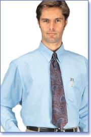 Henry Segal 1601 Light Blue Button-Down Collar Oxford Shirt for Men