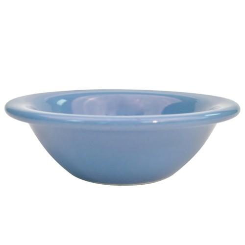 CAC China L-11NR-LB Las Vegas Narrow Rim Light Blue Fruit Bowl 4 oz.