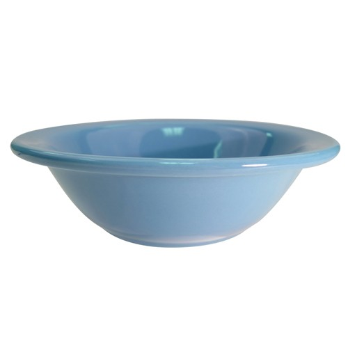 CAC China LV-10-Lb. Las Vegas Rolled Edge Light Blue Grapefruit Bowl 13 oz.