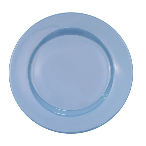 "CAC China LV-16-LBU Las Vegas Rolled Edge Light Blue Plate 10 1/2"""