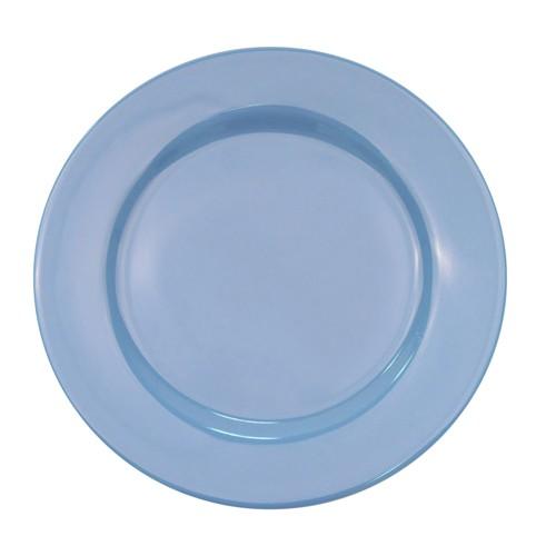 "CAC China LV-8-Lb. Las Vegas Rolled Edge Light Blue Plate 9"""