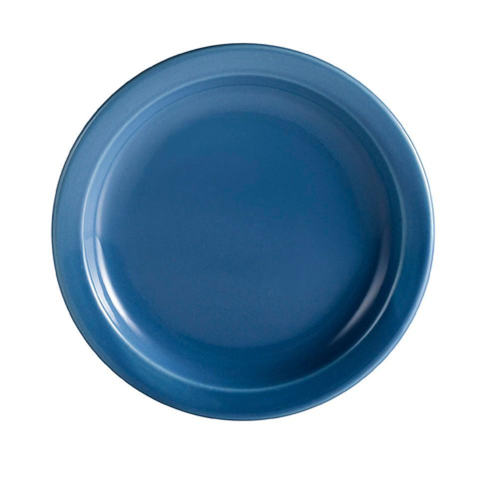 """CAC China L-16NR-LB Las Vegas Narrow Rim Light Blue Plate 10 1/2"""""""