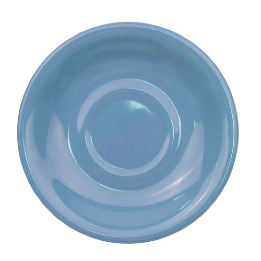 CAC China LV-2-Lb. Las Vegas Rolled Edge Light Blue Saucer, 6""