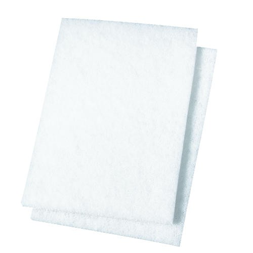 Light-Duty Scour Pad, 6 X 9, White
