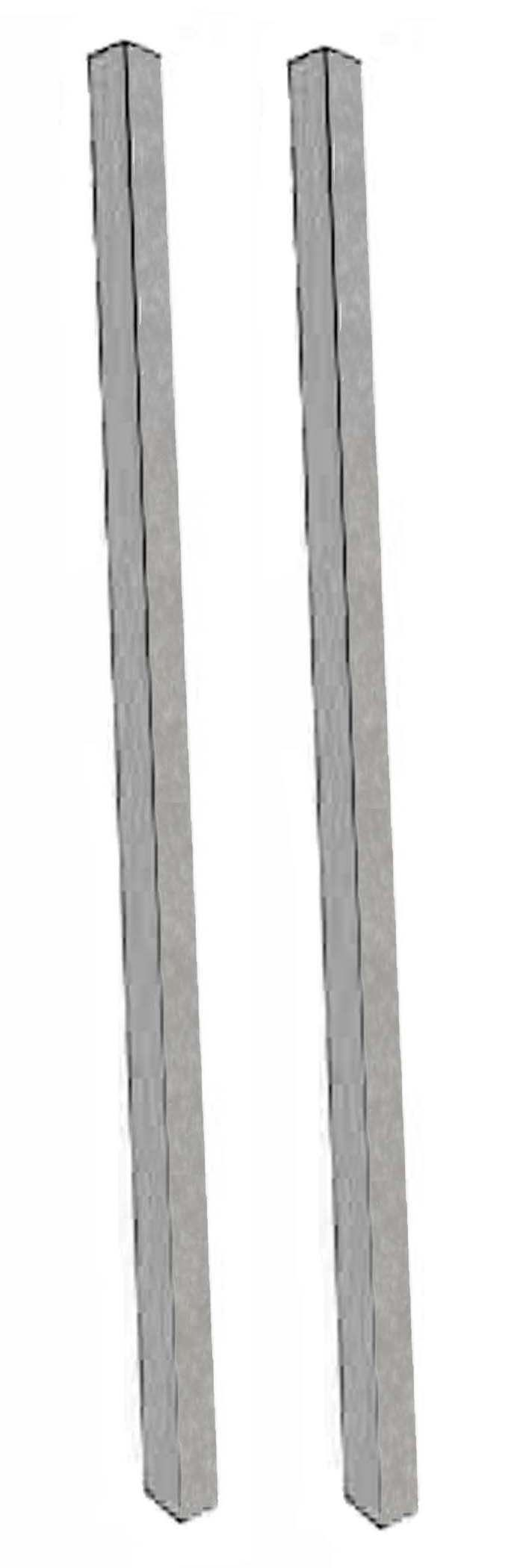 Aarco Products DPP-2 Light Grey Plastic Lumber Post Set