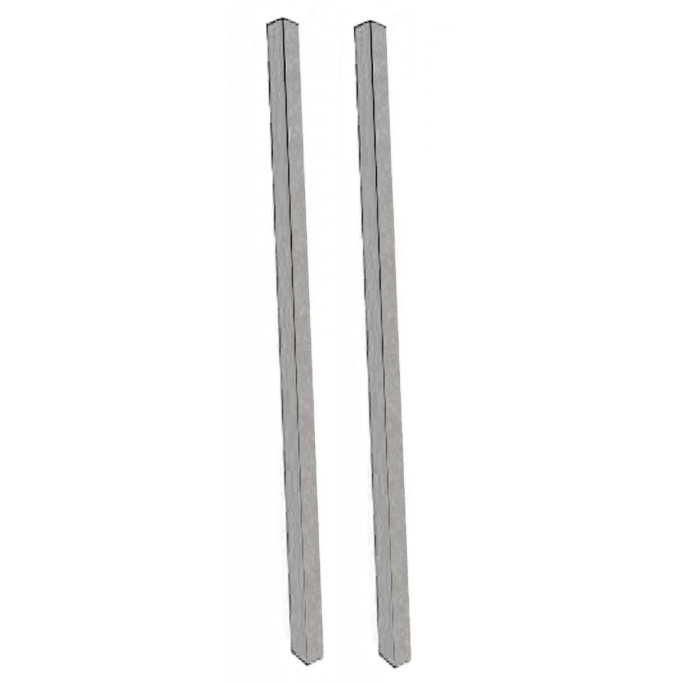 Aarco Products DPP-2 Light Grey Plastic Lumber Post Set
