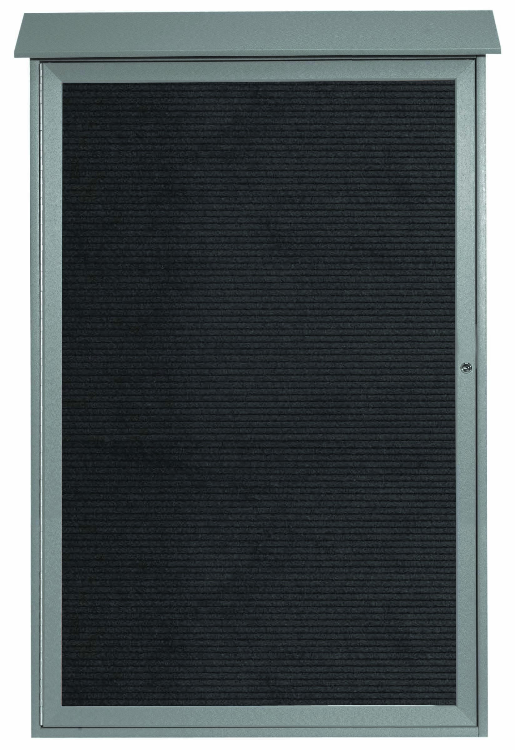"""Aarco Products PLD5438L-2 Light Grey Single Hinged Door Plastic Lumber Message Center with Letter Board, 54""""H x 38""""W"""