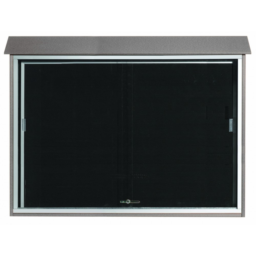 Light Grey Sliding Door Plastic Lumber Message Center with Letter Board-40