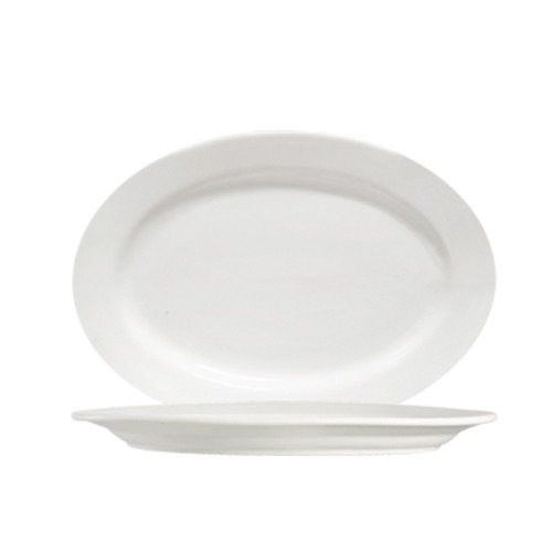 """CAC China 101-41 Lincoln Oval Platter, 14"""" x 9-7/8"""""""