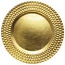 """Jay Import 1182769 Linear Gold Melamine 13"""" Charger Plate"""